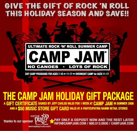 Camp jam holiday